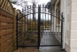 Pedestrian side entrance gate. Galvanised & powder coated.