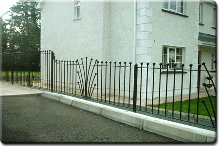 Decorative Flowered Garden Railings.