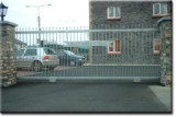 Decroative Galvanised Commercial Automated Gates.
