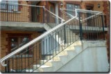 Stainless Steel and Wrought Iron Stairwell.