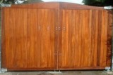 Solid Hardwood Entrance Gate with Galvanised Posts