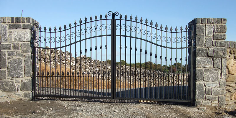 Decorative Wrought Iron Entrance Gates